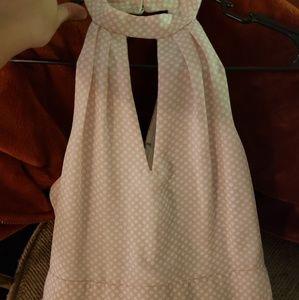 Express Dresses - Baby pink polka-dot dress